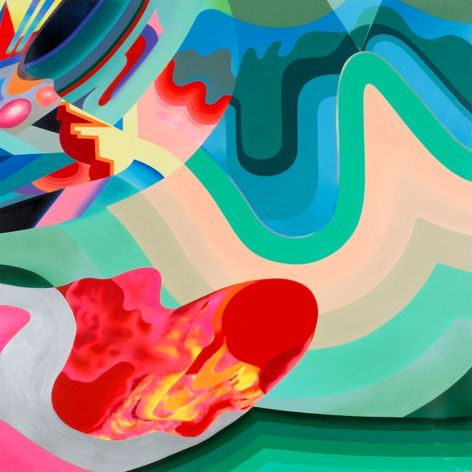 Hiromi Iuchi, At the Time on the Land, 2014, Oil on Canvas, 130 x 130 cm.