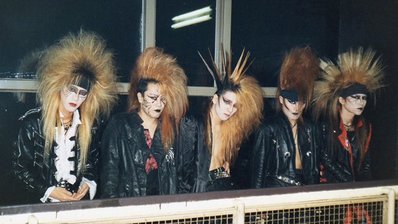 A young X Japan sport their signature Visual Kei style in an archival photo from Drafthouse Films' We Are X. Courtesy of Drafthouse Films