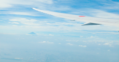 View of Mount Fuji from airplane home 2016 - Photography: Francisca Hagen