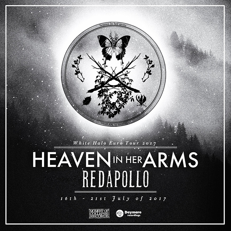 heaven in her arms Europese tour met Red Apollo