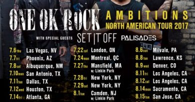 ONE OK ROCK AMBITIONS NORTH AMERICAN TOUR 2017