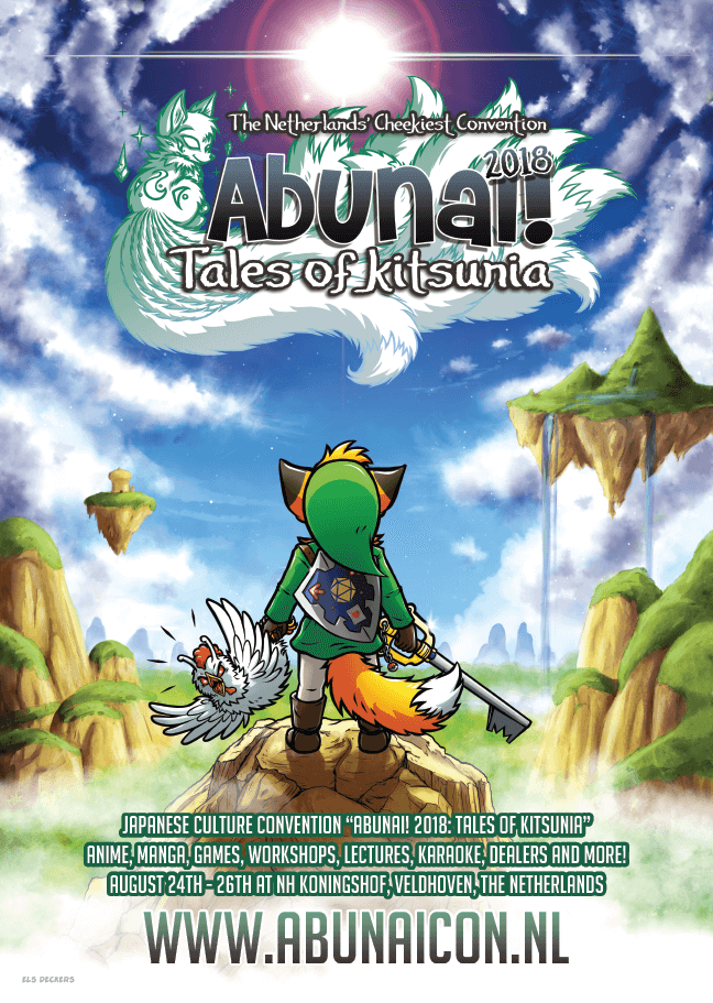 Official poster for Abunai! 2018: Tales of Kitsunia by Howling Riot